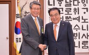 [동정] 김성익 총장, 문희상 국회의장 면담 '사립대 재정지원 호소'