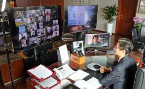 화상 교수회의, 직원회의 주재(2020.4.13/ 4.20)